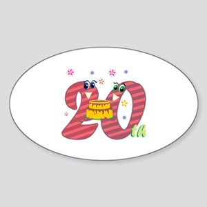 20th Celebration Sticker (Oval)